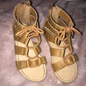 Brown toddler gladiator sandals